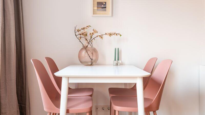 lente, bloemen, interieur, roze