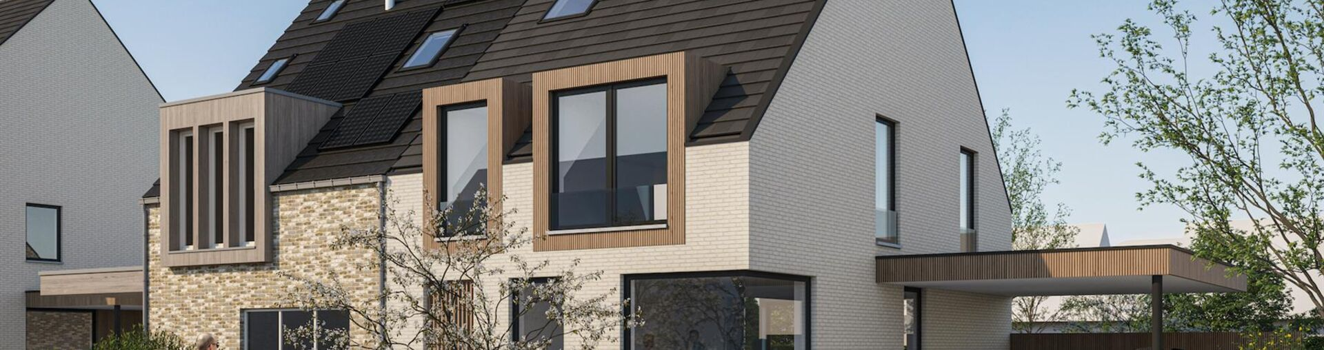 Project Uitkerke met 4 driegevel-villa's
